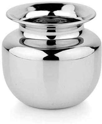 NAVYAKSH Heavy Stainless Steel Water Storage Lota/Kalash/Chambu/Tumbler for Pooja/Pongal/Marriage/Karvachauth (Weight 250 Gram, Big Size - 1000 ml, Silver) Steel Kalash(Silver)
