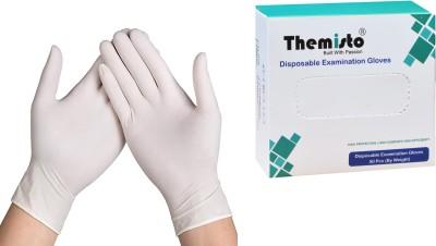 Themisto 50 Pcs (Medium) Latex Examination Gloves(Pack of 50)
