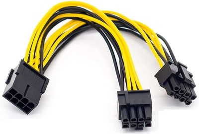 THE TECHY WAY PCIe 8 pin to dual 8 (6+2) pin splitter cable for graphic cards and mining Gaming Adapter(Yellow,...