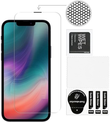 ELEF Tempered Glass Guard for Apple iPhone 13 Mini Anti Dust Advacne Dust Proof Technology Seapker Hole with Net(Pack of 1)