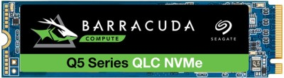 Seagate Barracuda Q5 with M.2 NVMe PCIe Gen3 ×4, 3D QLC for Desktop or Laptop, 1-Year Rescue Services 500 GB...