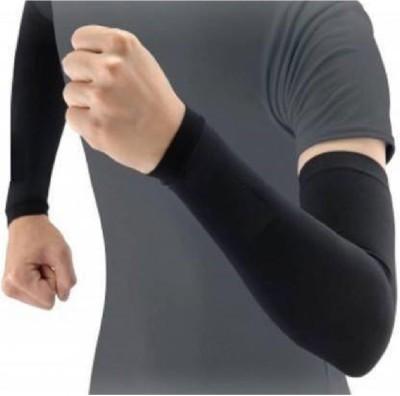 XN WELLNES UV SUNBURN PROTECTOR FOR FULL ARM SLEEVES FOR RIDERS (PACK OF 1) Nylon Arm Warmer(Black)