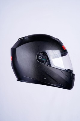 HEADFOX EDGE SMART BLUETOOTH - N1-BLACK Motorbike Helmet(Black, Black)