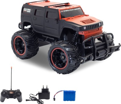Miss & Chief Big and Mean Rock Crawling 1:20 Scale Modified Off-Road Hummer RC Car/Monster Truck(Red)