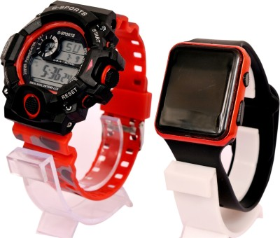 epoch VKRDG810 Multi-Function Stylish Sports Militaries New Arrival Silicon Strap Digital Pack of 2 Combo Men And Boys Hot And Cool Best Quality Evers New Year Fashion Sports Digital Stylish Lights New Generation Amazing Look Cool Style Digital Watch Digital Watch  - For Boys
