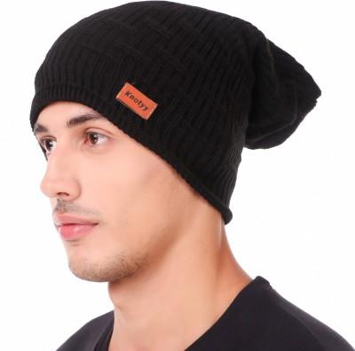 Knotyy Self Design beanie, woolen Cap