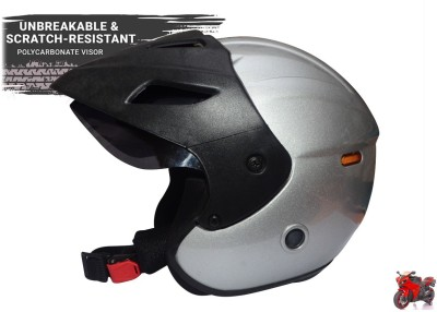 MonteX-1 silver white halface2021 Motorbike Helmet(silverwhite, Black, Red, Blue)