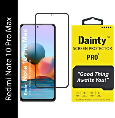 Dainty TECH Edge To Edge Tempered Glass for Mi Redmi Note 10 Pro Max(Pack of 1)