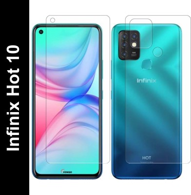 FashionCraft Front and Back Screen Guard for Infinix Hot 10(Pack of 2)