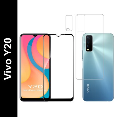 Vatsin Front and Back Tempered Glass for Vivo Y20(Pack of 3)