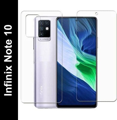 FIRST IMPRESSION Front and Back Tempered Glass for Infinix Note 10(Pack of 2)