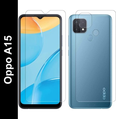 FIRST IMPRESSION Front and Back Tempered Glass for Oppo A15(Pack of 2)