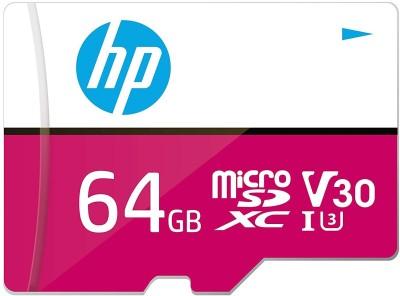 HP U3 V30 64 GB MicroSD Card Class 10 100 MB/s Memory Card(With Adapter)
