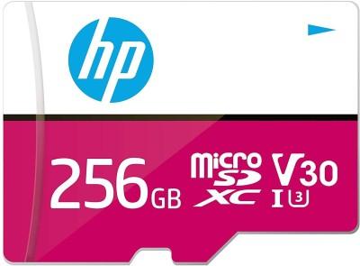 HP U3 V30 256 GB MicroSD Card Class 10 100 MB/s Memory Card(With Adapter)