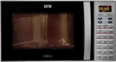 IFB 25 L Metallic silver Convection Microwave Oven(25SC4, Metallic Silver)
