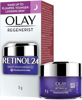 OLAY Night Cream mini: Regenerist Retinol 24 Moisturiser for hydrated plump smooth skin(8 g)