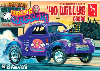 AMT USA 1/25 Scale '40 Curly's Gasser WIllys Coupe\nPlastic Model Kit Multicolor AMT Blocks   Building Sets