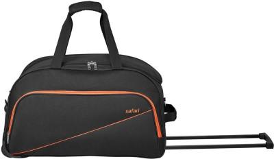 SAFARI PEP 55 RDFL BLACK DUFFEL TROLLEY BAG Duffel With Wheels  Strolley  SAFARI Duffel Bags