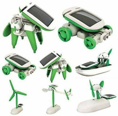 wonder digital 6 in 1 Solar Power Energy Learning Educational Science Robot School Projects Toy kit for Kids- Multi Color(Multicolor)