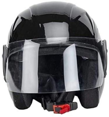 MonteX-1 blackhalffacewithoutcap12 Motorbike Helmet(Black)