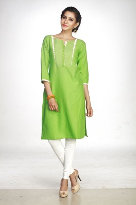 Maybell Printed Women's Straight Kurta(Green)