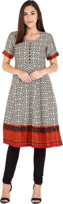 Libas Printed Women's Anarkali Kurta(Beige)  available at flipkart for Rs.599