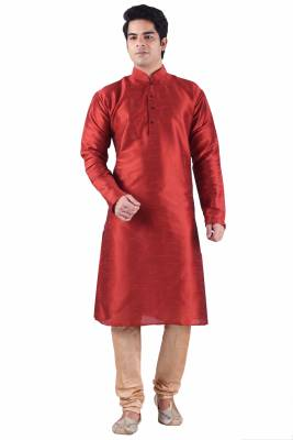Sanwara Solid Men's Straight Kurta