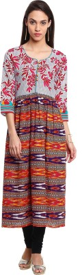 Prakhya Women Printed Anarkali Kurta(Multicolor) at flipkart