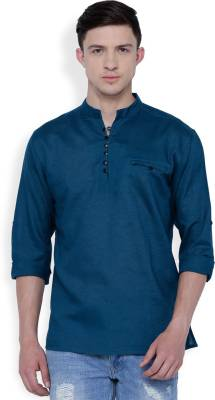 Svanik Solid Men's Straight Kurta