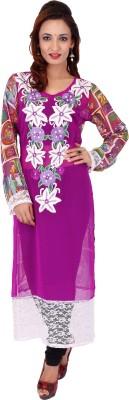 Stylo Baliye Printed Women's Straight Kurta(Pink)