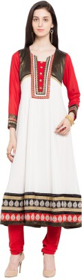 Nikhaar Women's Embellished Anarkali Kurta(Multicolor)