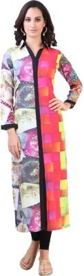 Libas Printed Women's Straight Kurta(Multicolor)
