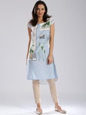 club fashion Women Printed Straight Kurta(Multicolor)