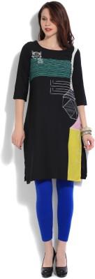 Pluss Women Printed Flared Kurta(Multicolor)