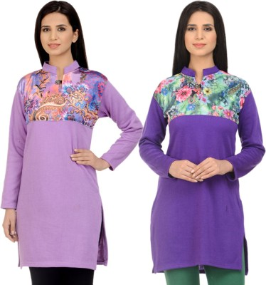 62e12af60 Kritika s World Casual Self Design Women s Kurti(Pack of 2 ...