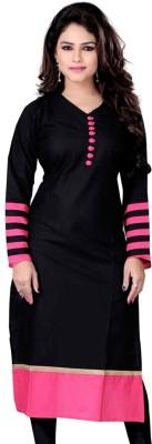 Palav Kurties Self Design Women's Kurti(Black, Yellow)