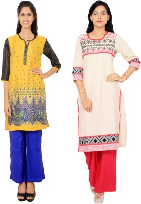 Rama Casual Floral Print, Embroidered Women