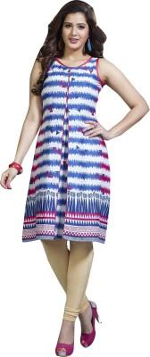 Shaily Retails Casual Printed Women's Kurti(Blue)