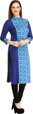 Cottinfab Casual Geometric Print Women Kurti(Blue) at flipkart