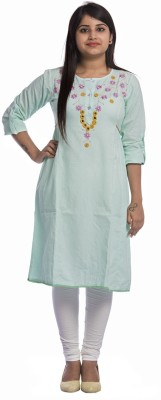 Desier Casual Embroidered, Solid Women Kurti(Pack of 2, Blue, Grey)