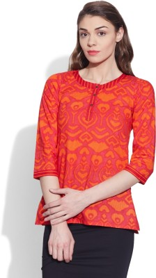 Very Me Casual Printed Women Kurti(Red)
