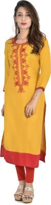Style N Shades Embroidered Women's Straight Kurta