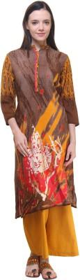 Shree Casual Printed Women Kurti(Brown)
