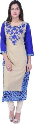 Palakh Women Embroidered Straight Kurta(Multicolor)