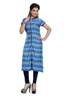 Shopping Queen Festive & Party Printed Women Kurti(Blue)