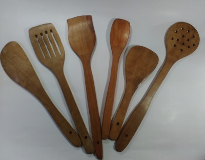 SHAHI Wood Ladle Beige, Pack of 6 SHAHI Ladles