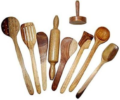 Decorhand Wood Ladle(Pack of 9) at flipkart
