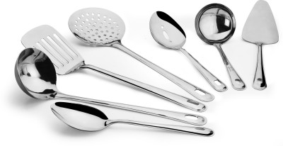 Ideale Cook & Serve tool set Stainless Steel Ladle (Silver, Pack of 7)
