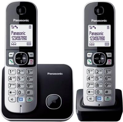 Panasonic KX TG 6812 Cordless Landline Phone(Black, Silver)  available at flipkart for Rs.4520