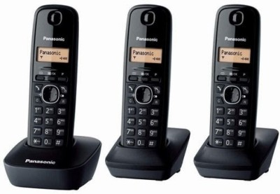 Panasonic PA-KX-TG1613 Cordless Landline Phone(Black)  available at flipkart for Rs.7200